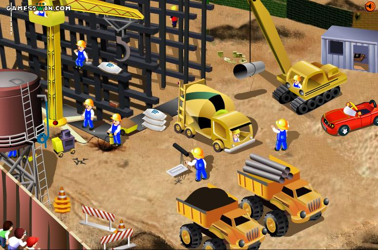 Play free funny construction site online games for Building builder online