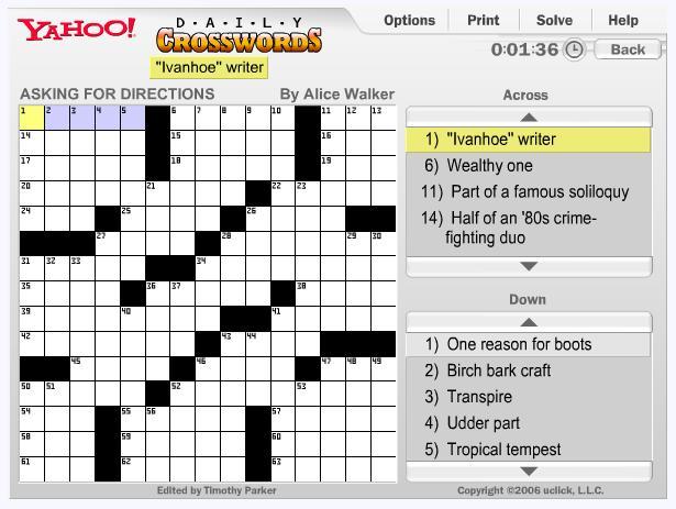 free play crossword clue